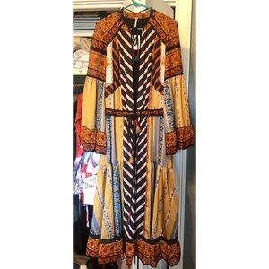 Free People Meadow Sweet Print Maxi Duster